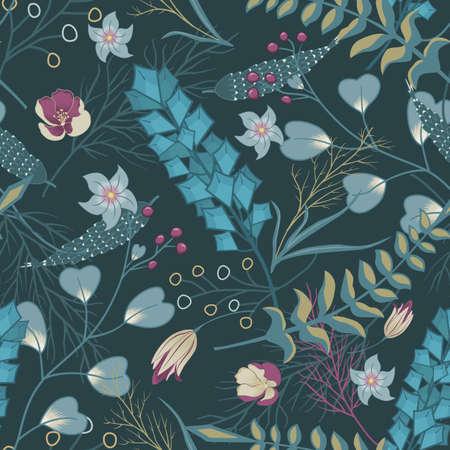 아름 다운 화려한 꽃 패턴입니다.