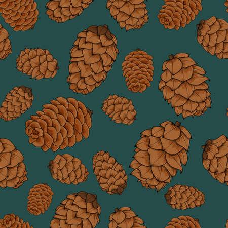 소나무 콘 원활한 패턴