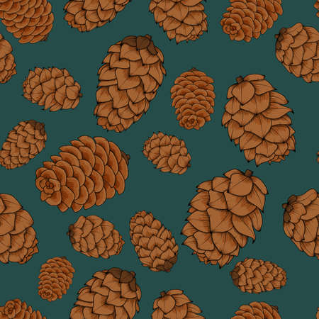 dennenappels naadloos patroon