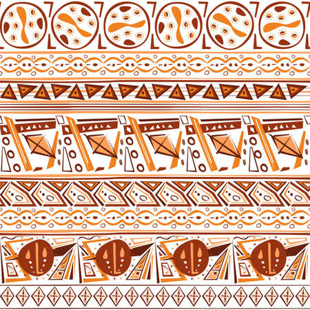 abstract ethnic tribal Indian ornament seamless vector pattern background