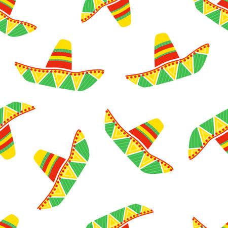 sombrero colorido, sombrero de paja tradicional mexicano, sombreros latinos, vector de fondo transparente