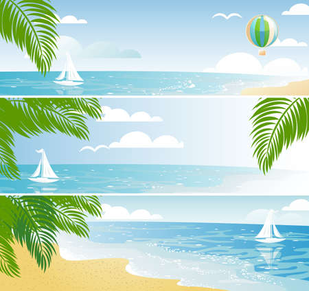 Sea vacation banners Stock Vector - 10893140