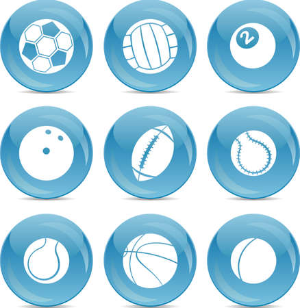 sport balls: balls icons Illustration