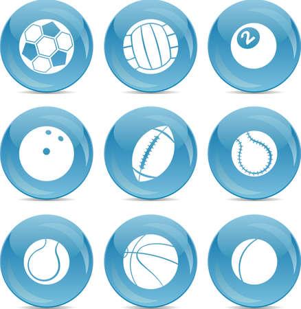 sport balls: balls icons Illustration