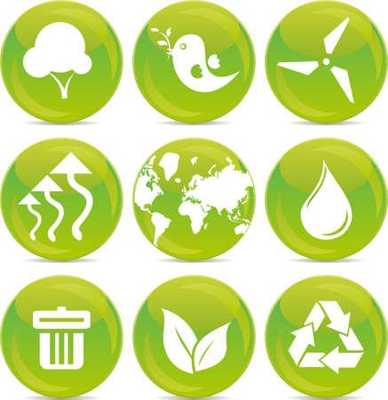 evaporation: environmental icons