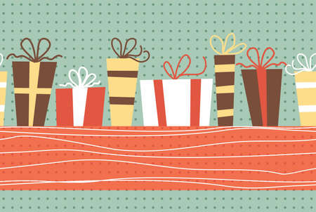ref: presents seamless pattern with banner