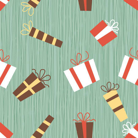 presents seamless pattern Vector