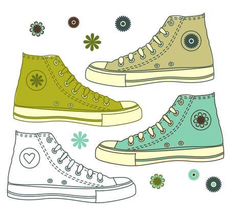 running shoe: scarpe isolato su bianco