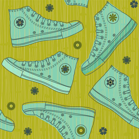 seamless shoes Vector