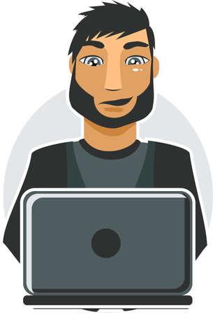 computer worker Stock Vector - 11072303