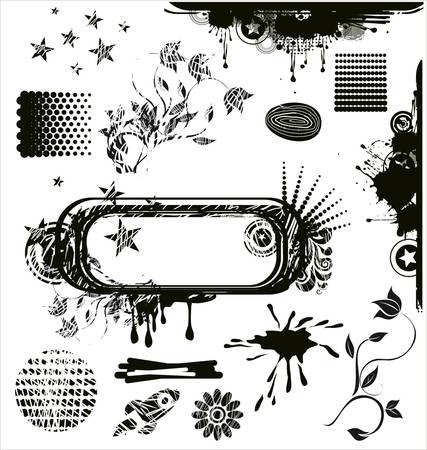 grungy design elements Vector