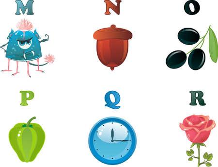 alphabet M to R