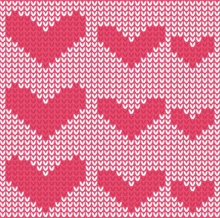 Knitted Hearts Seamless Pattern Royalty Free Cliparts Vectors And