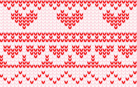 seamless knit heart pattern Vector