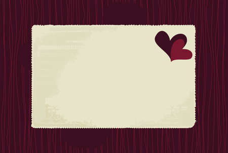 blank love letter on seamless pattern Stock Vector - 11659025