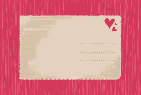 retro love card Vector