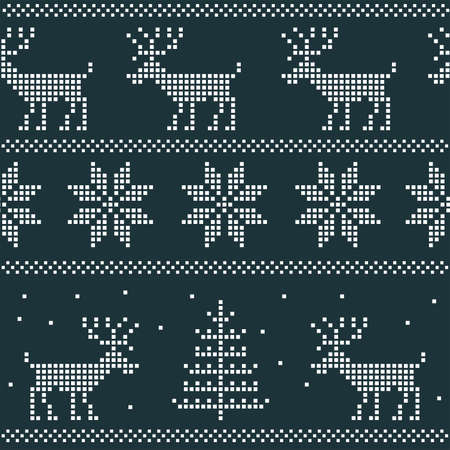 seamless nordic pattern Vector