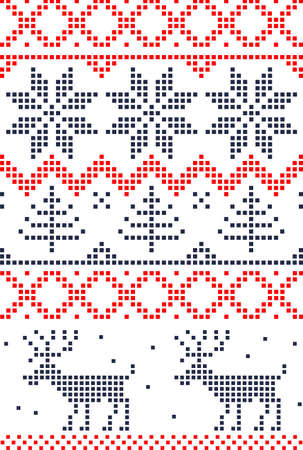 scandinavian seamless pattern Vector