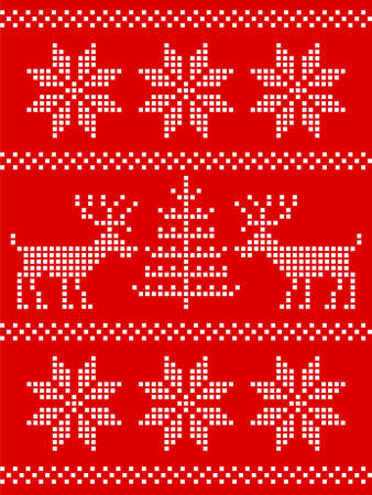 nordic deer ornament Vector