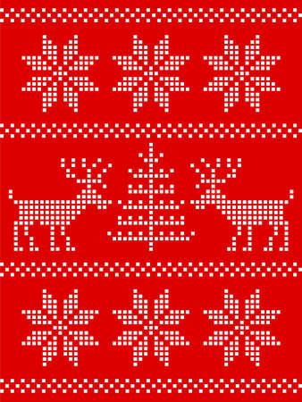nordic deer ornament Vector
