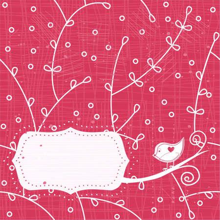 love bird banner Stock Vector - 11658992