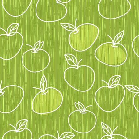 apple leaf: seamless apple pattern