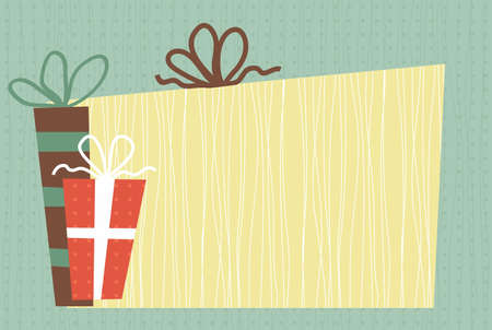 presents and banner Vector