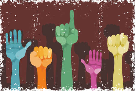 hands up with different gestures Stock Vector - 11656431