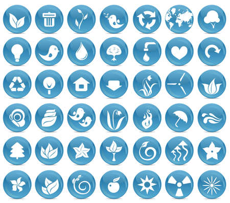 42 ecological icon buttons Vector