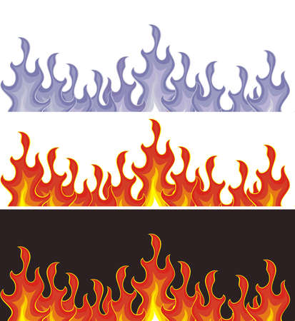 gas fireplace: flame Illustration