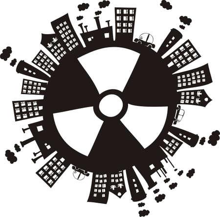 motor de carro: radiación en el mundo Vectores