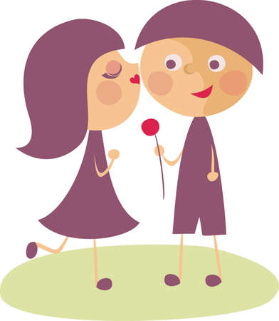 kiss for flower Vector