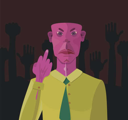 unhappy worker: Angry man Illustration
