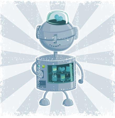 retro robot automate Vector