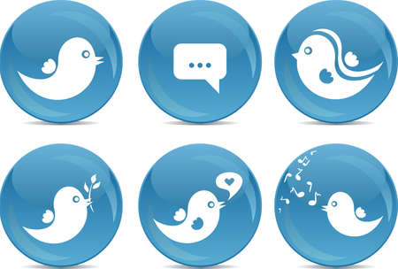 social network icon buttons Stock Vector - 11780422