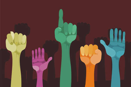 hands up with different gestures Vector