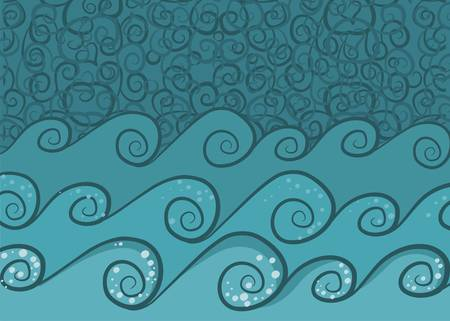 wave seamless background Vector