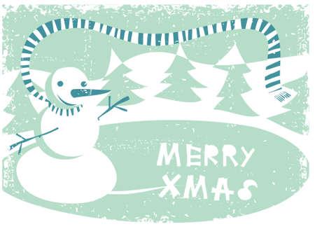 snowman card  Vector