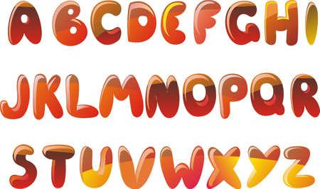 linguistics: english alphabet in vector