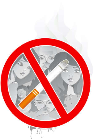 women smoking: no smoking in public