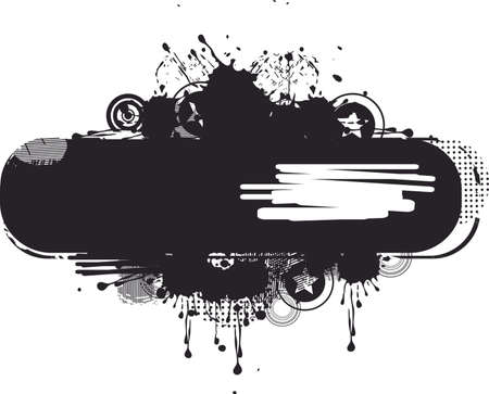 black grunge banner Zdjęcie Seryjne - 11780557
