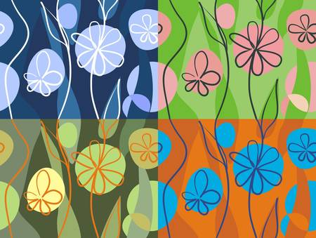4 floral backgrounds  Stock Vector - 11778999