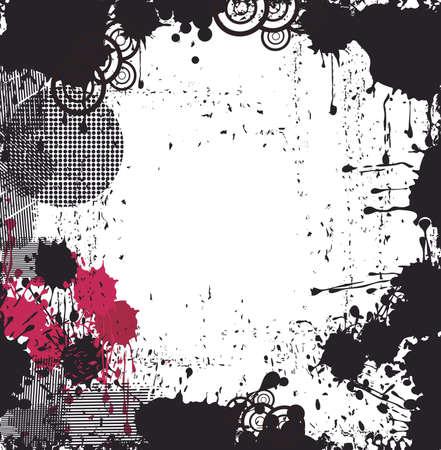 blood splatter: Grungy background