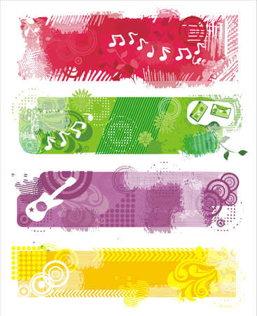 music grunge banners Vector