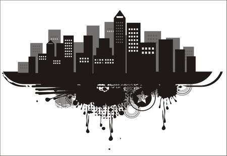 city silhouette background  Vector