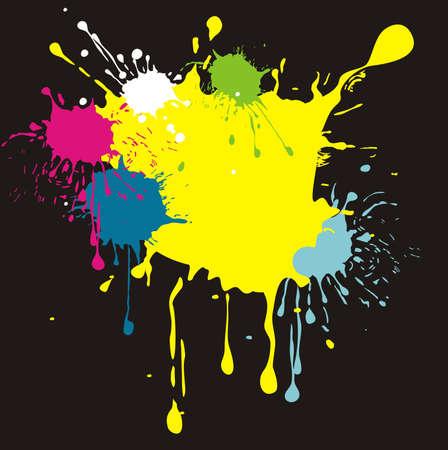 splash paint: couleurs dans le vecteur