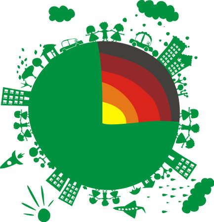 Earth core Vector