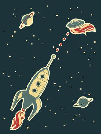 space wars: retro rocket