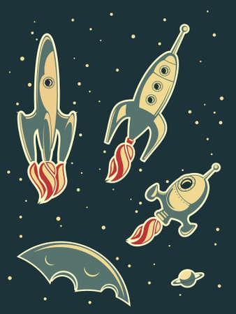 nave espacial: retro rockets racing
