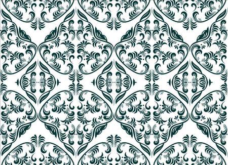 damask seamless wallpaper Vector